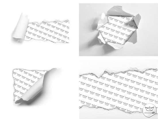 Torn paper PSD rz 550x412 4 Plantillas de papel rasgado en PSD