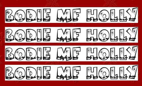 christmas fonts 16 20 Tipografías para Navidad
