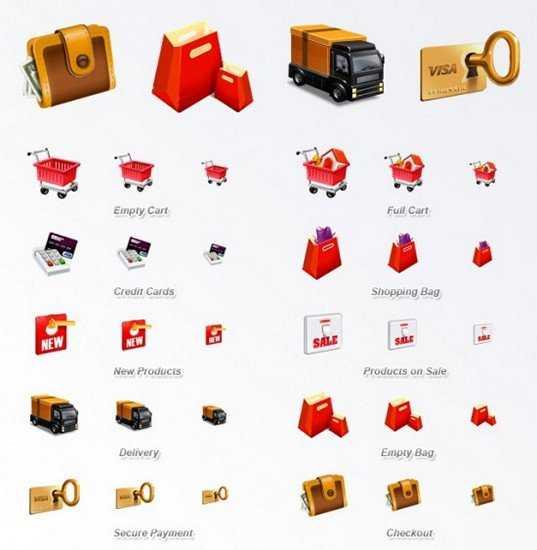 Iconos para tiendas virtuales