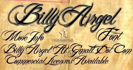 Tipografía Billy Argel gratis para descargar