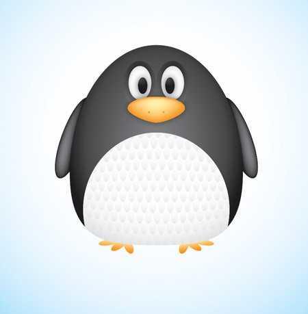Crear un pingüino gracioso con Illustrator