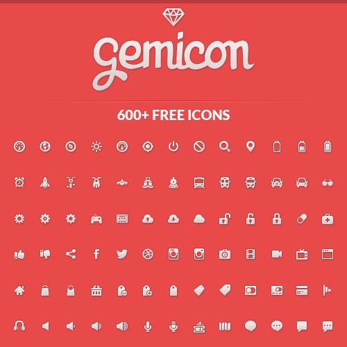 600 iconos gratuitos de gran calidad