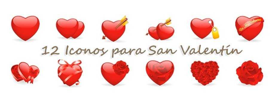12 Iconos para San Valentín