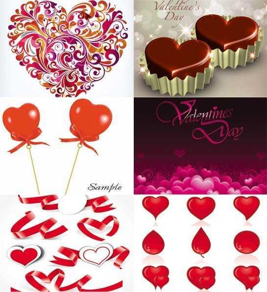 Vectores gratis para San Valentín