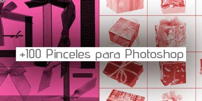 +100 Pinceles de cintas y lazos para Photoshop
