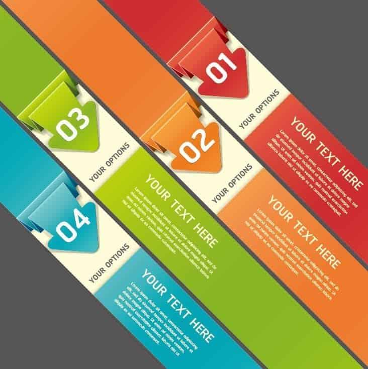 5 Kits de etiquetas en vectores